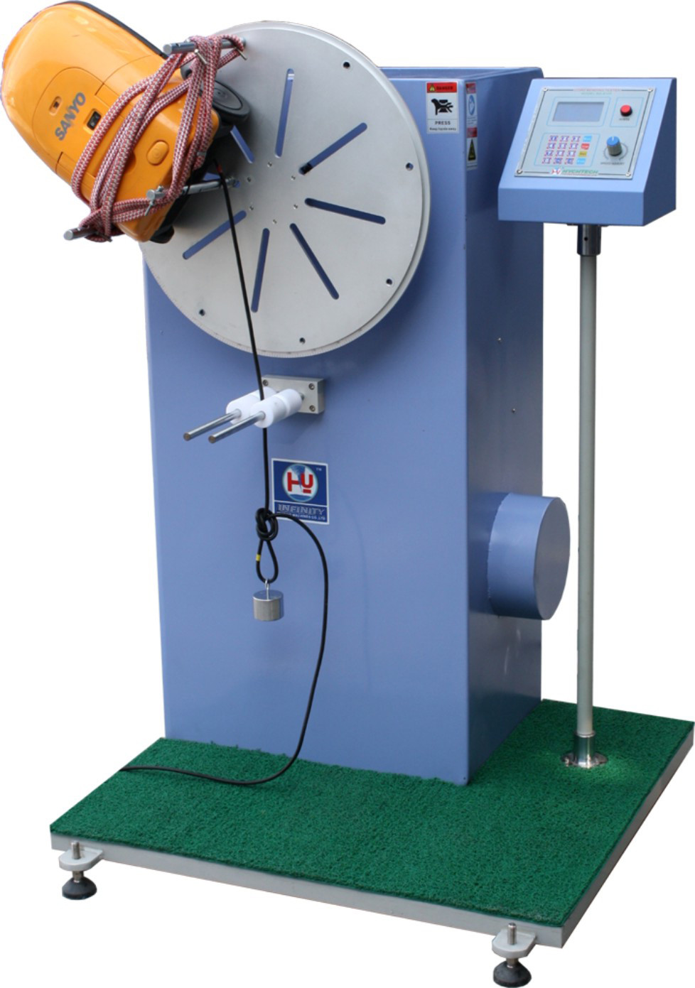 Cord Bend Test Equipment / Tensile testing machine 10 - 40 mumbers/min Speed